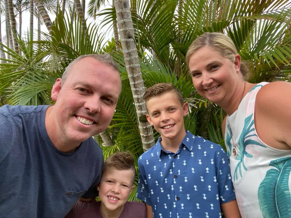 Kristy and her family moved from Sydney to the Gold Coast
