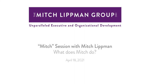 Mitch Session - What does Mitch do?