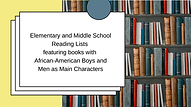 Elementary and Middle School Reading List With African-American Boys and Mean as Main Characters