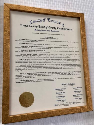 Essex County Resolution