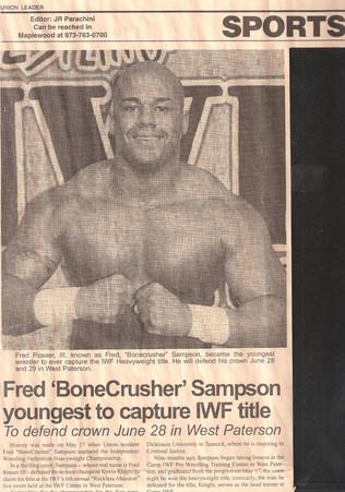Bonecrusher Fred Sampson
