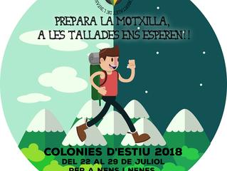 PREINSCRIPCIÓ COLÒNIES D'ESTIU 2018