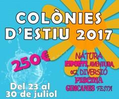 COLÒNIES D'ESTIU. 2017