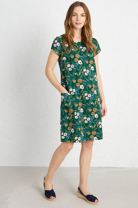 River Cove Dress  - Pastel Foliage Watso