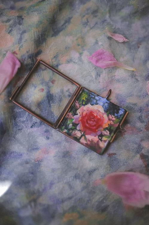 Rose #2 in Glass Locket