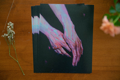 Into the dark - hand studyPrint 🌒