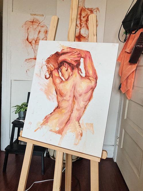 Original Back Study Painting 💞