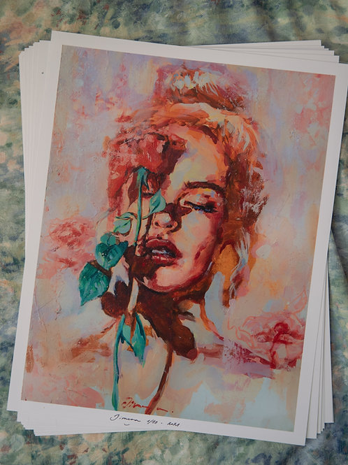 Girl With Rose (Big Size)