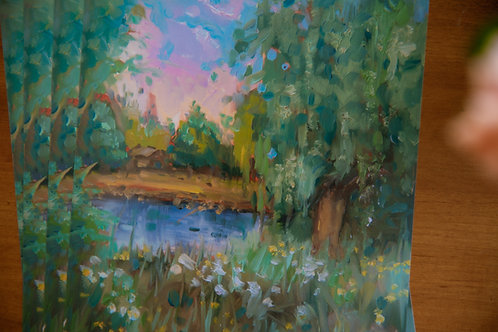 evening spring ~ landscape study Print 🌿