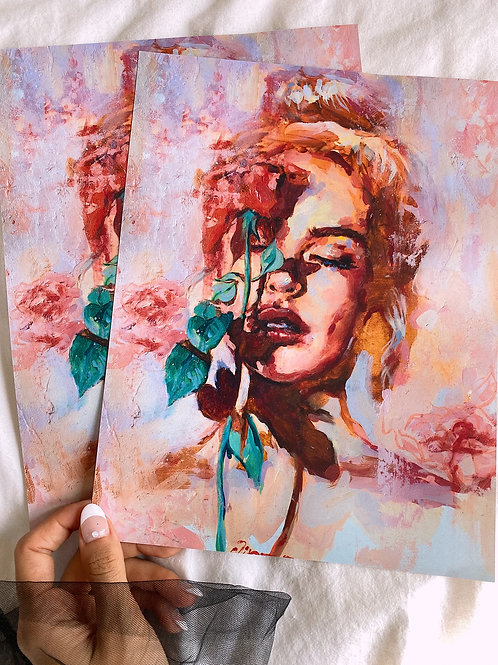Girl with rose - no border ✨
