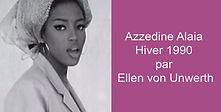 Azzedine Alaia Hiver 1990 par Ellen von