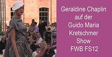 Geraldine Chaplin auf der Guido Maria Kr