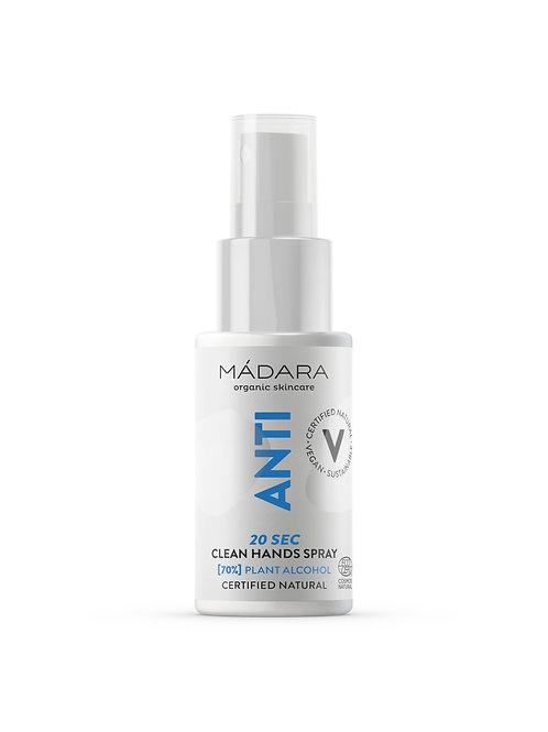 Madara ANTI 20sec Clean Hands 70% Alcohol Spray