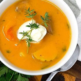 Garnet Sweet Potato Soup