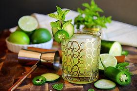 Jalapeno Cucumber Herb Gimlet