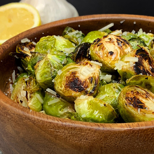 Garlic Lemon and Parmesan Brussel Sprouts