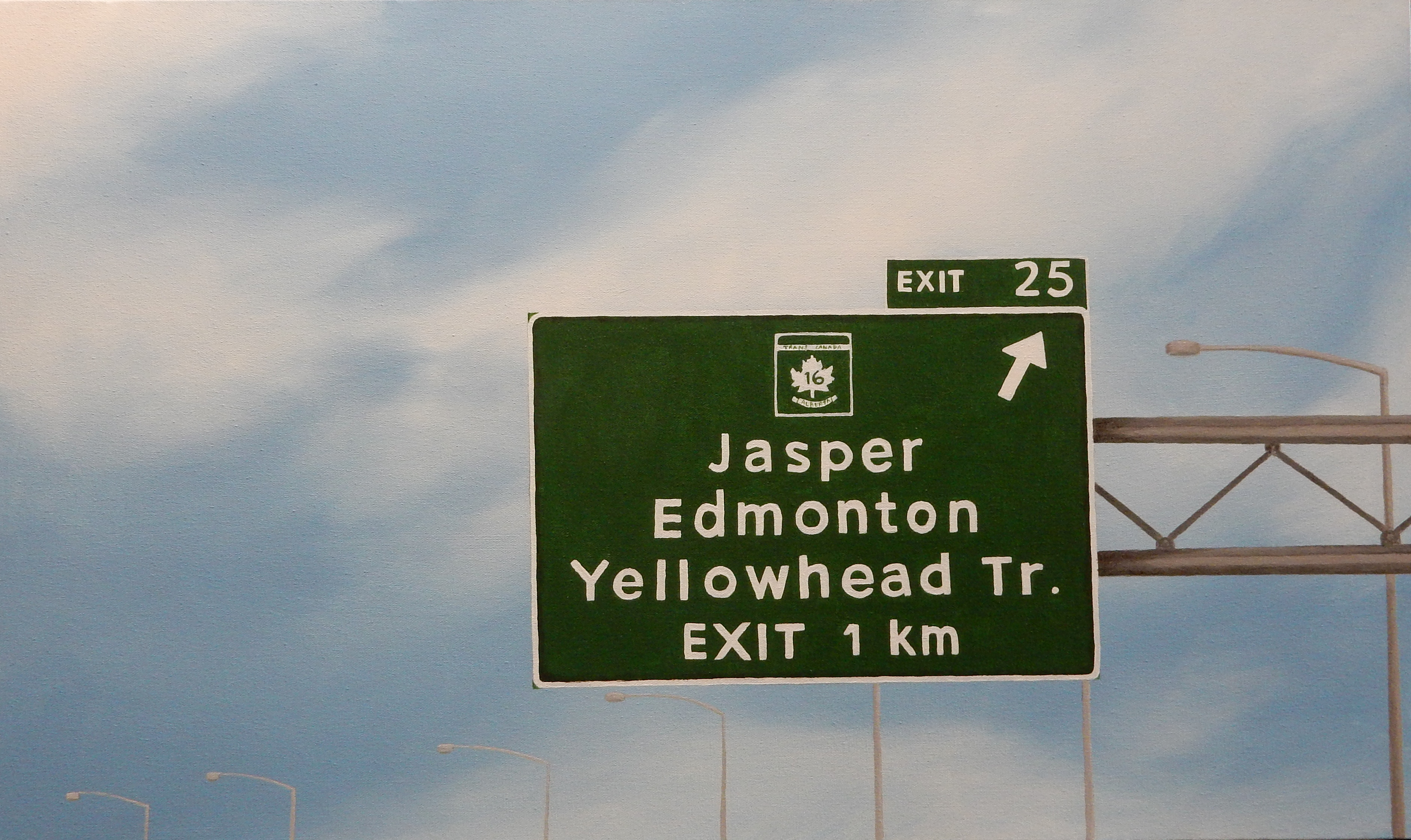 Exit 25 to Yellowhead Tr.