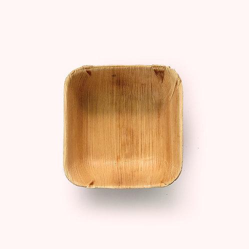 14cm Palm Leaf Square Bowl - 8 piece