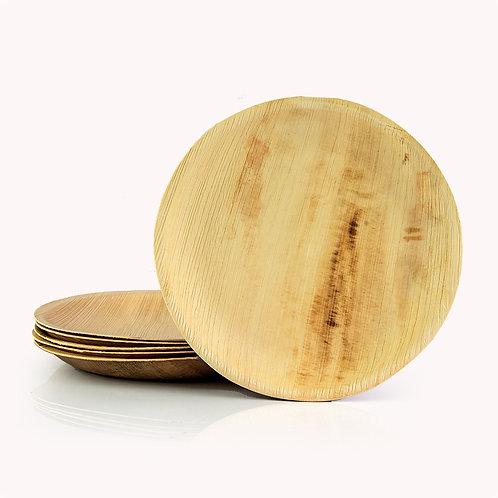 25cm Palm Leaf Round Dinner Platen- 6 piece