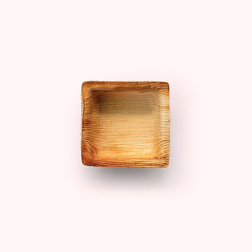 7.5cm Palm Leaf Square Dip Bowl - 6 piece