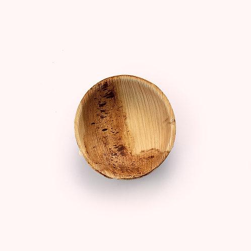 9cm Palm Leaf Round Dip Bowl - 8 piece