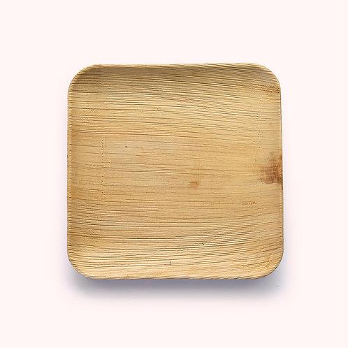 25cm Palm Leaf Square Dinner Plate - 6 piece
