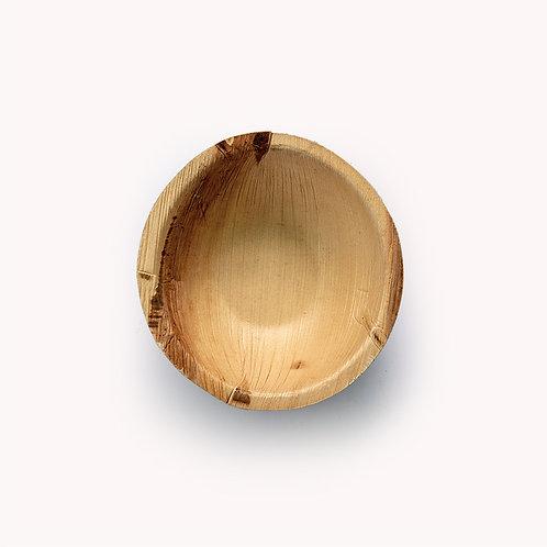 15cm Palm Leaf Round Deep Bowl - 6 piece