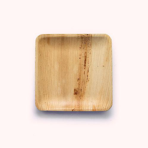 20cm Palm Leaf Square Side Plate - 6 piece