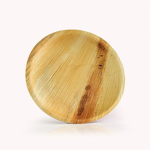 18cm Palm Leaf Round Side Plates - 6 piece