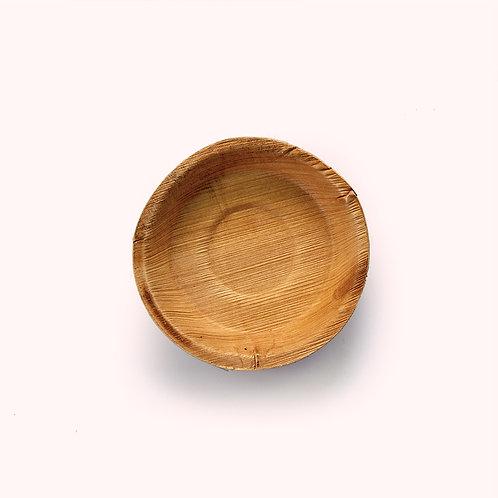 11.5cm Palm Leaf Round Dip Bowl - 6 piece
