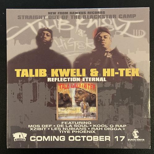 "Rare Promo CD Talib Kweli & Hi Tek ""Reflection Eternal"" The Album"