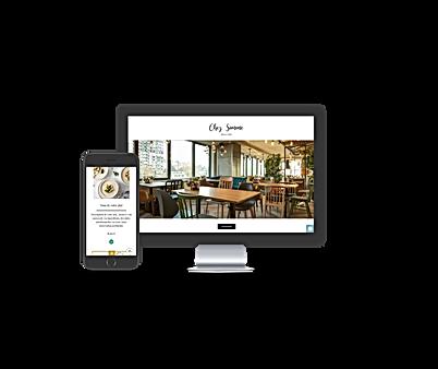 Site internet wix restaurant Click Collect