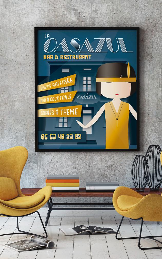 Affiche Bar Resto