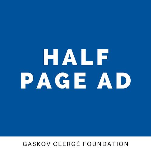 Advertising - Half Page