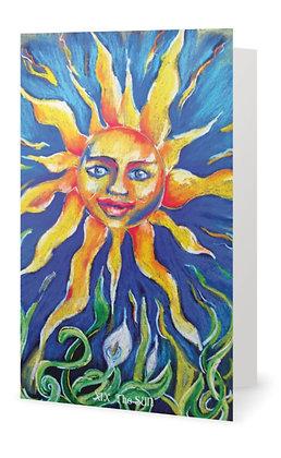 X1X THE SUN  Greeting Card