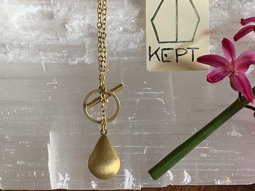 KEPT Brass  Fob Chain Locket