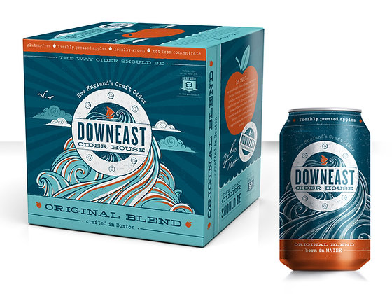 Downeast cider 12oz 6pk can
