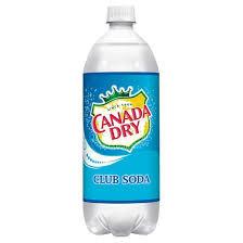 1Liter Canada Dry Club Soda 12pk
