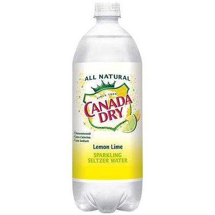 1Liter Canada Dry Seltzer Flavor 12pk