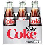 Diet coke 8oz glass 4x6pk