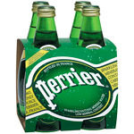 Perrier Sparkling Water 330ml Glass 4x6pk