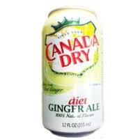 12oz can Canada Dry Diet Ginger Ale 24pk