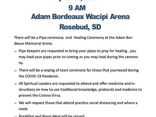 Healing and Pipe Ceremony
