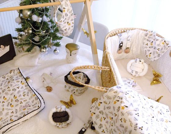 Noël couverture balle lingettes bavoirs attache tétine bébés