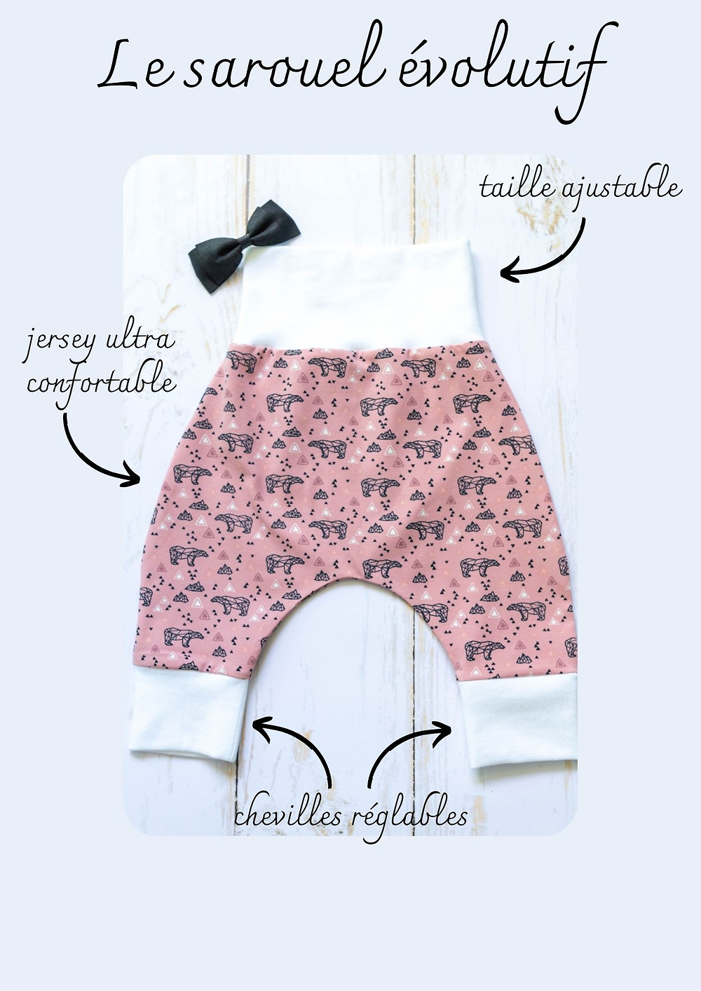 Pantalon sarouel évolutif