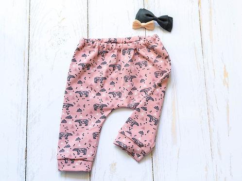 Legging bébé fille oursonne rose