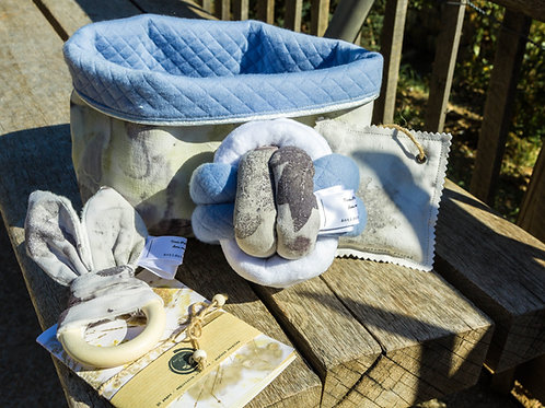 Coffret Empreintes de Vie maman bébé bleu ciel