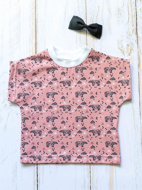 T-shirt bébé oursonne rose