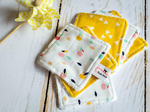 Lingettes lavables pommes citron