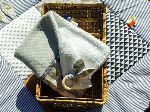 Couverture bébé ecoprint brume
